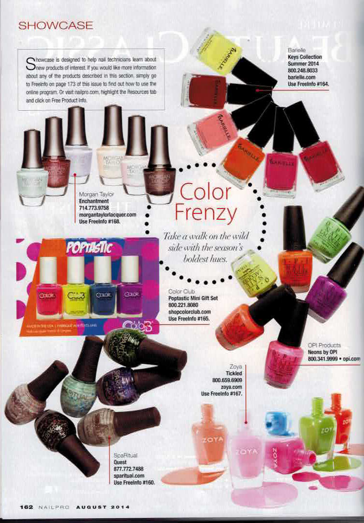 NAILPRO MAGAZINE - August, 2014